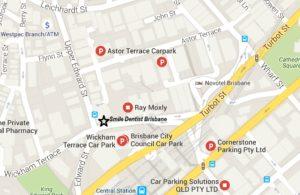 Parking near Smile Dentist Brisbane